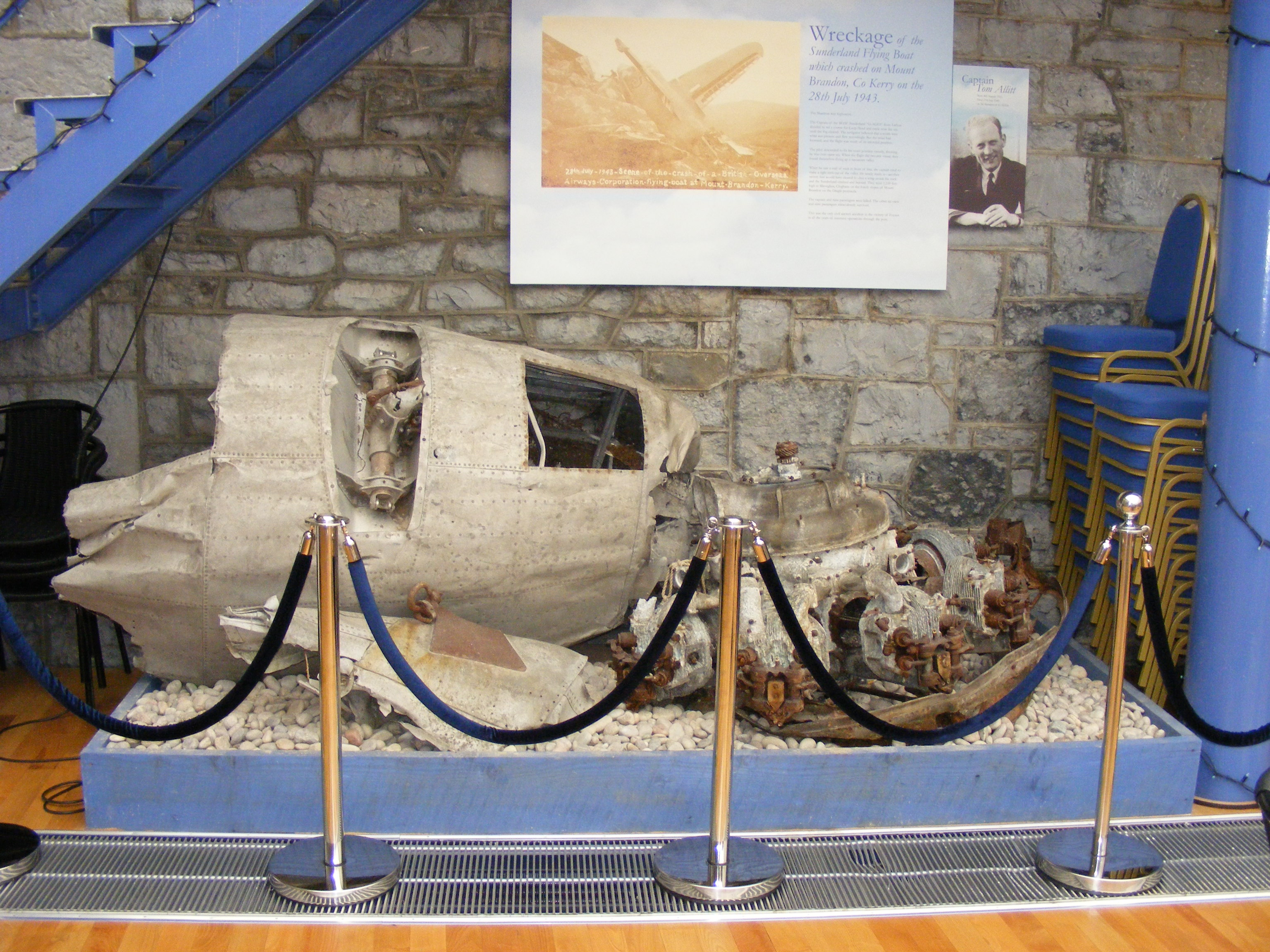 The Foynes Flying Boat Museum display for               G-AGES, July 2007