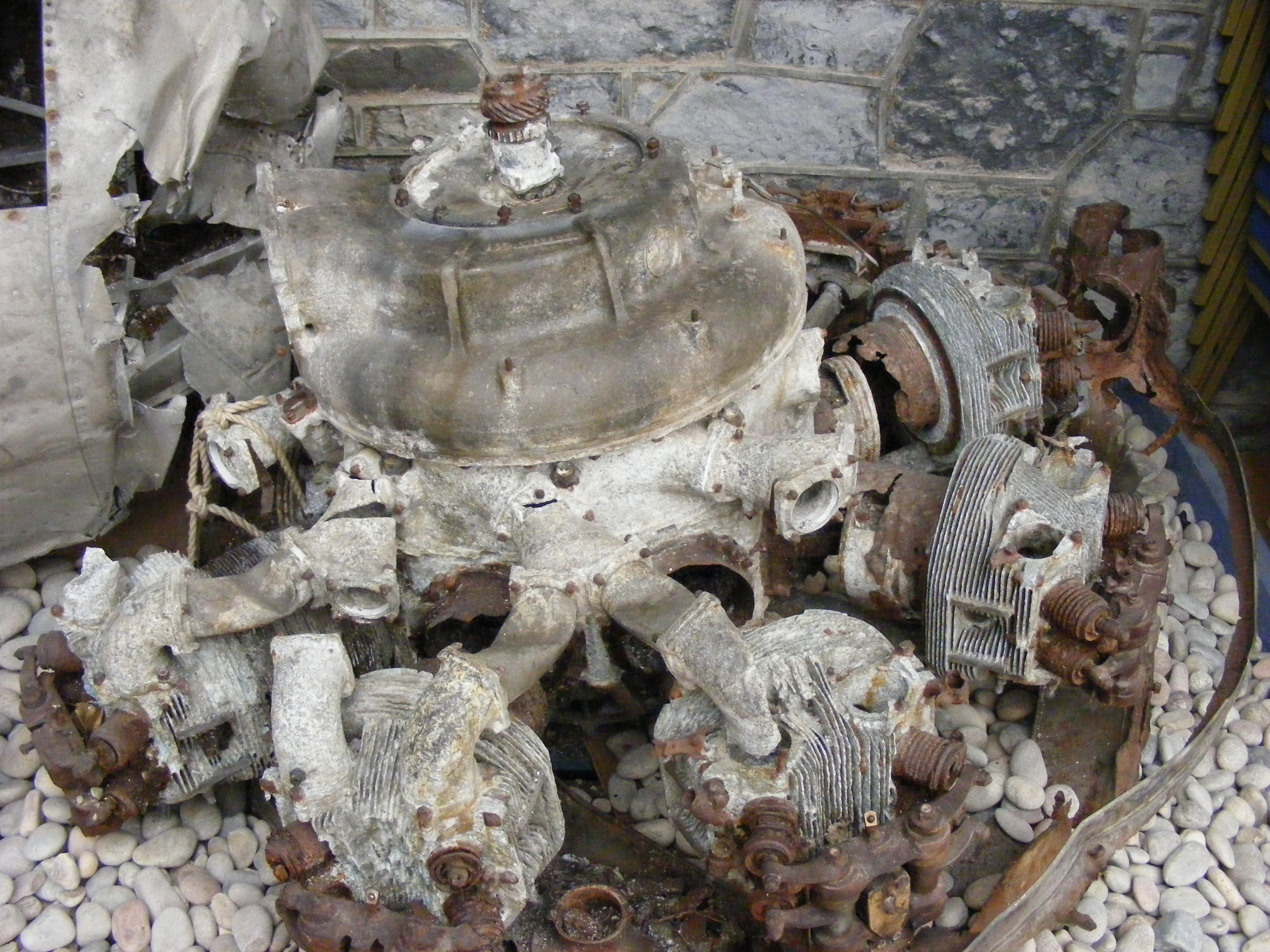 One of G-AGES four Pegasus engines.